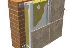 Схема утепления вентилируемого (навесного) фасада