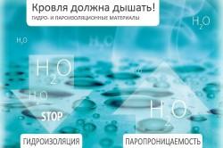 Схема отличий материалов для пароизоляции и гидроизоляции.